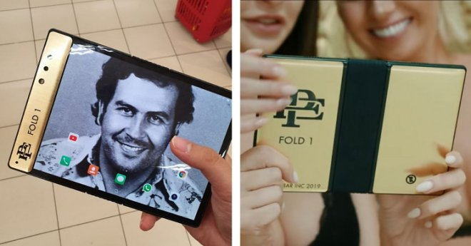 Pablo Escobar's brother suddenly released his own flexible smartphone.