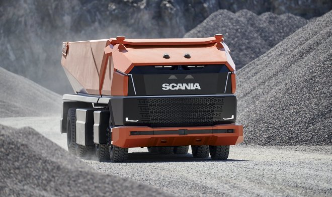 The Scania autonomous truck demonstrates the future of UAVs.