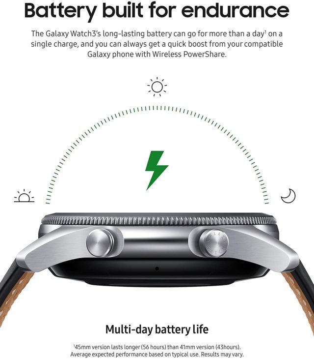 Samsung Galaxy Watch 3- Battery built for endurance